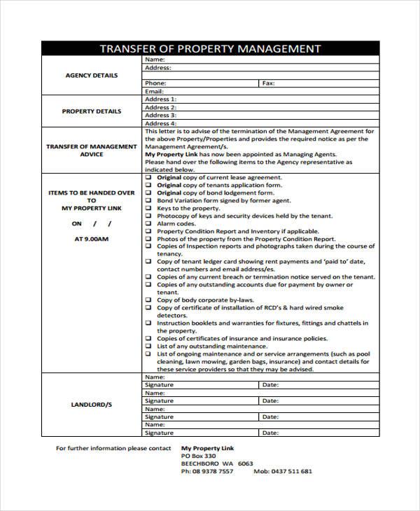 property management transfer letter1