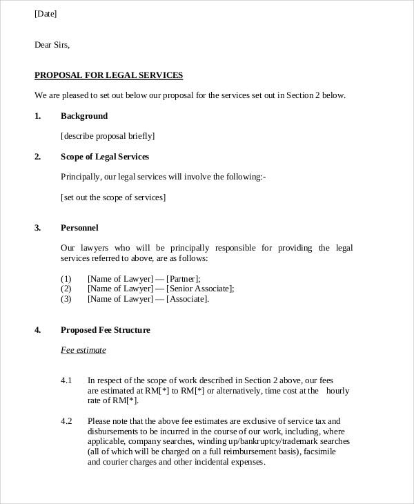 proposal letter for legal service
