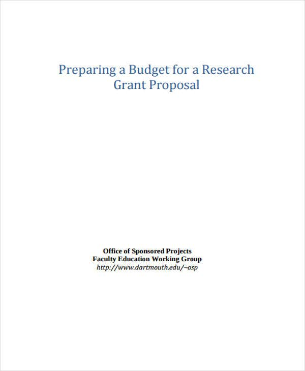 proposal for budget research
