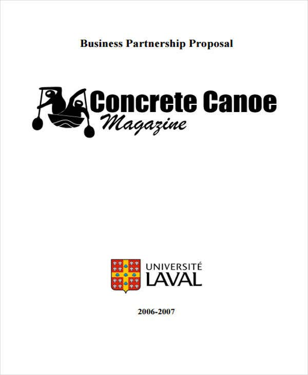 proposal for business partnership