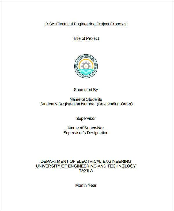 proposal for electrical engineering