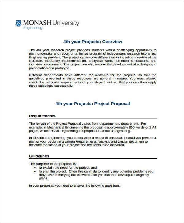 proposal for engineering research