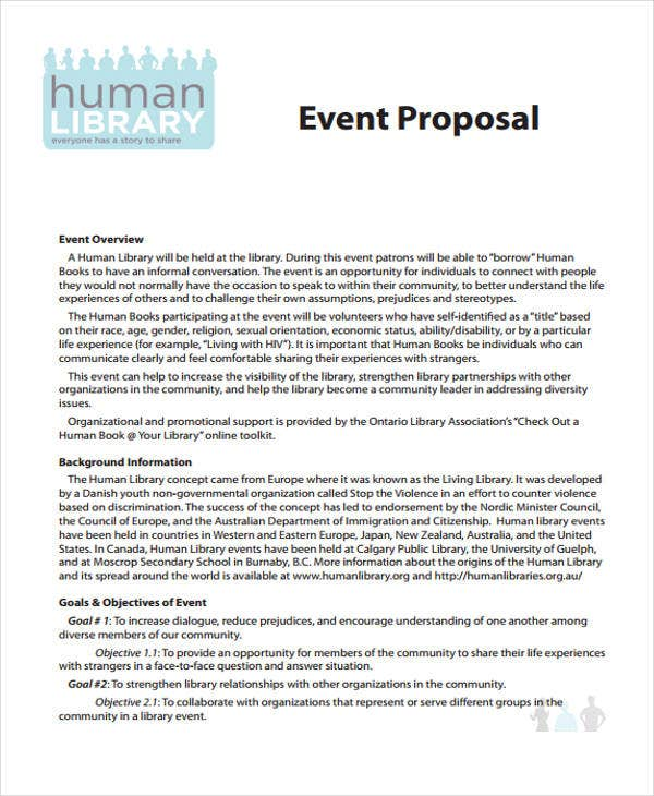proposal for event sample