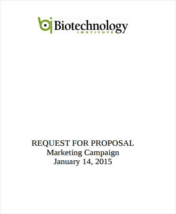proposal for marketing campaign