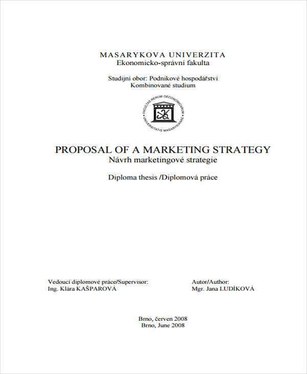 proposal for marketing sample
