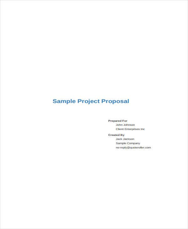 proposal for project sample