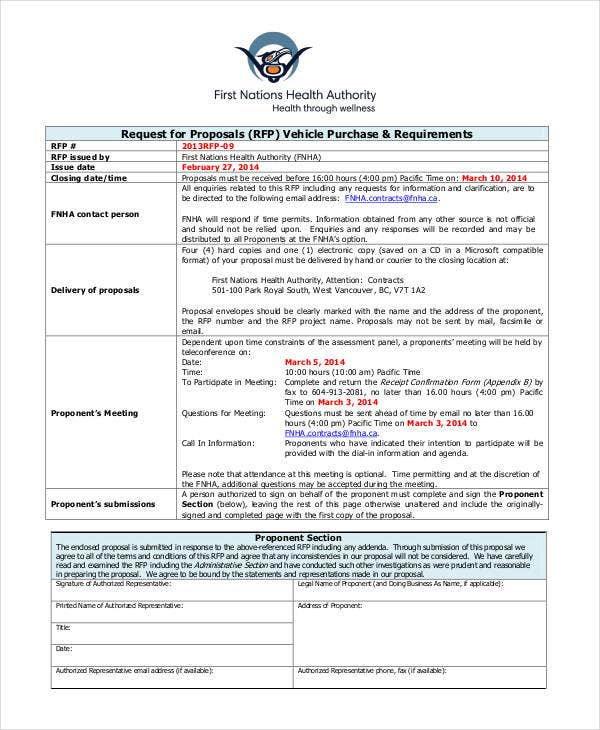 Purchase Proposal Templates   Free Word Pdf Format Download