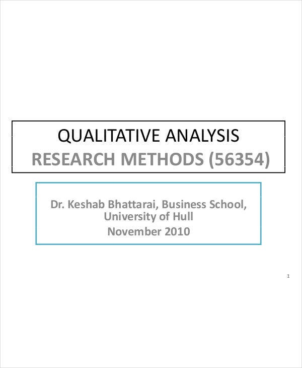 qualitative research analysis
