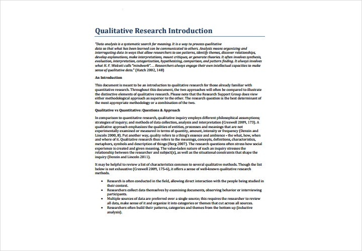 qualitative research introduction