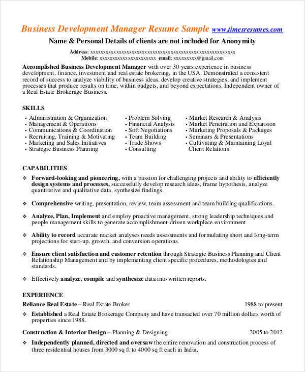 Real-Estate-Business-Development-Manager-Resume Operations Manager Cover Letter Template on front end, examples for bank, ford field, template for emergency, for meeting business, template for dc,