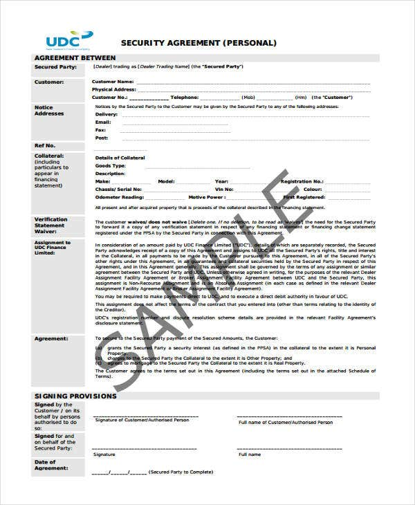 Agreement Form Samples  Free  Premium Templates