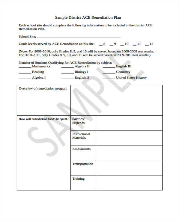 nursing action plan template - 12 remediation plan templates free sample example