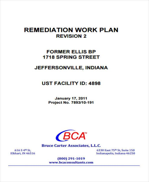 remediation work plan