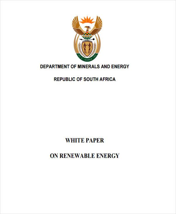 renewable energy white paper