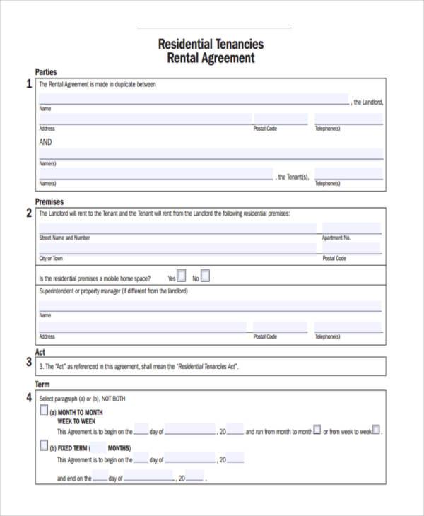 rental agreement tenancy