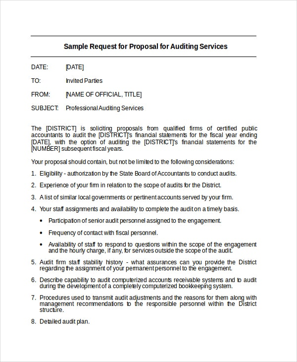 request letter for audit proposal