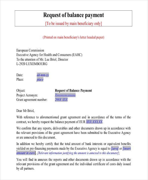 45 Request Letter Template