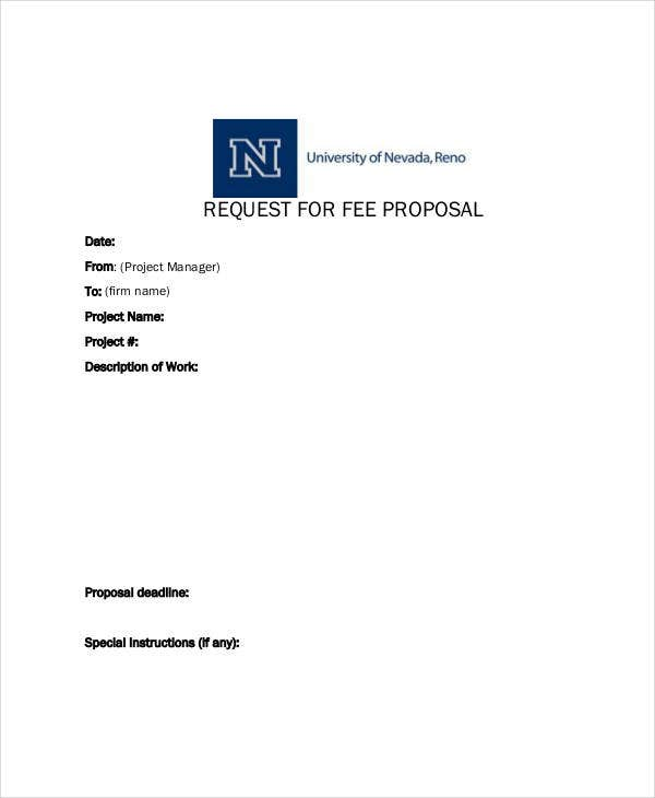 request for fee proposal