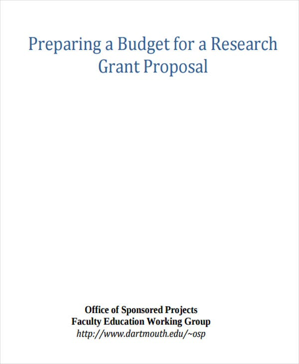 research grant proposal