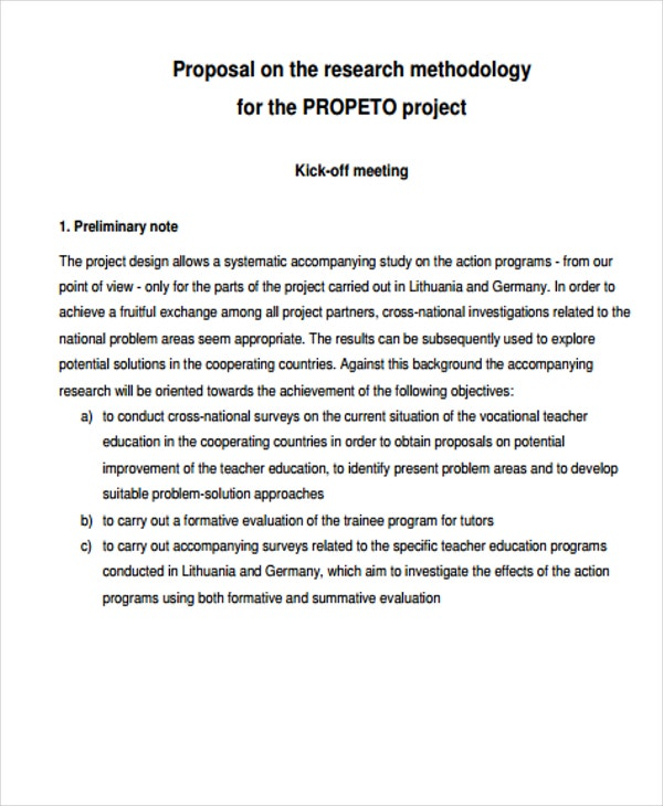 32 project proposal samples free premium templates project proposal for research methodology maxwellsz