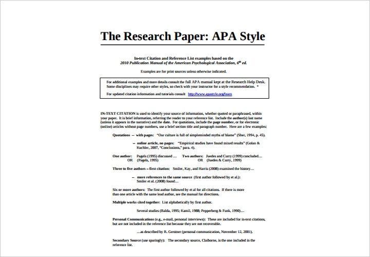 apa style research paper on ad/hd