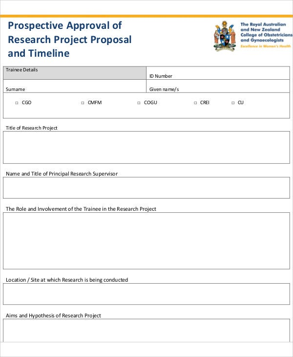 research project proposal timeline