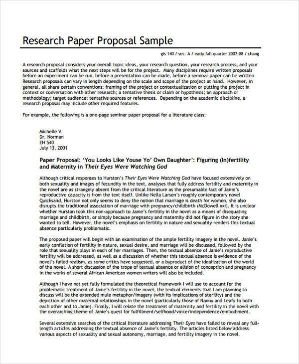 research proposal paper