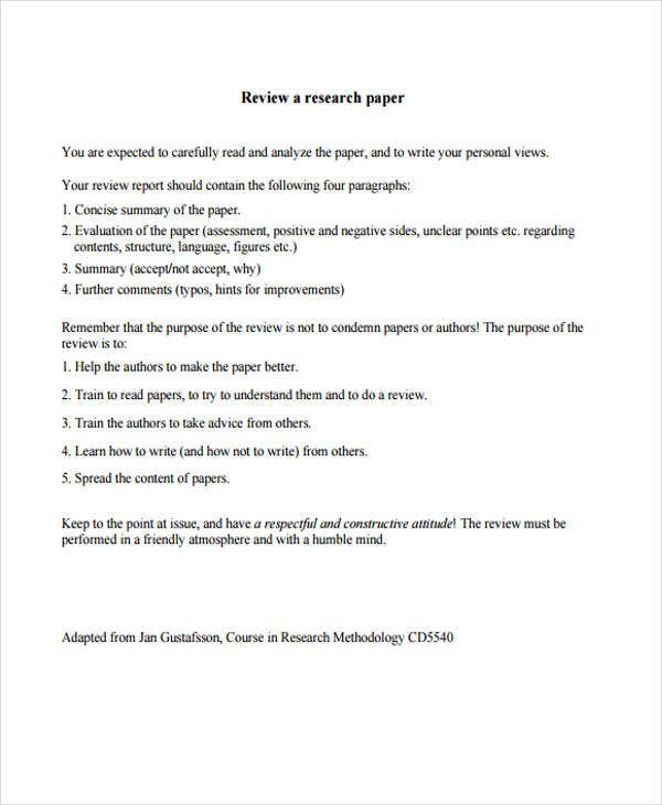 research review paper