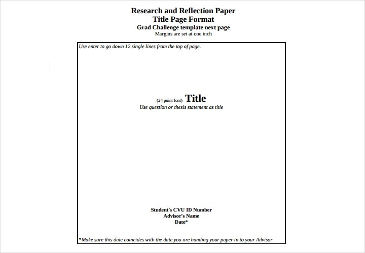 research paper title page format turabian