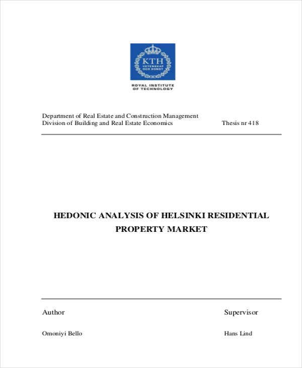 residential property market analysis
