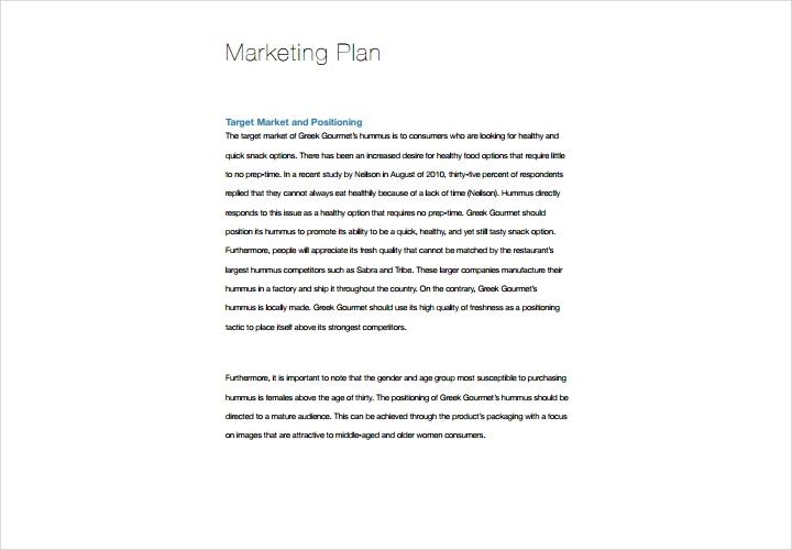 restaurent marketing planning
