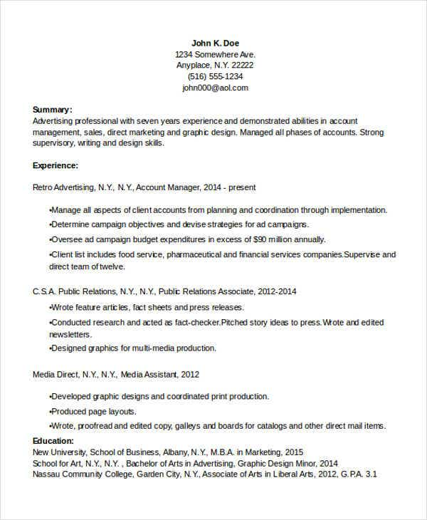 Experienced Candidate Resume Format. Entry Level Inbound Marketer .