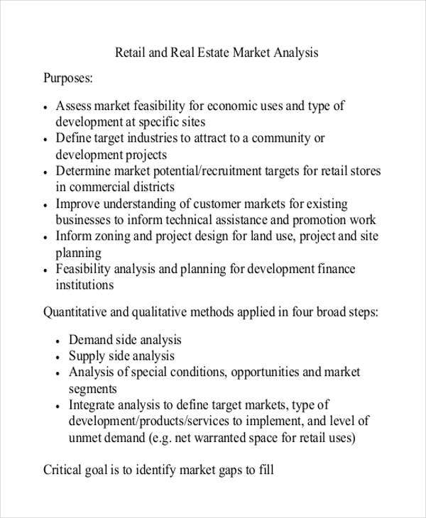 retail stores market analysis