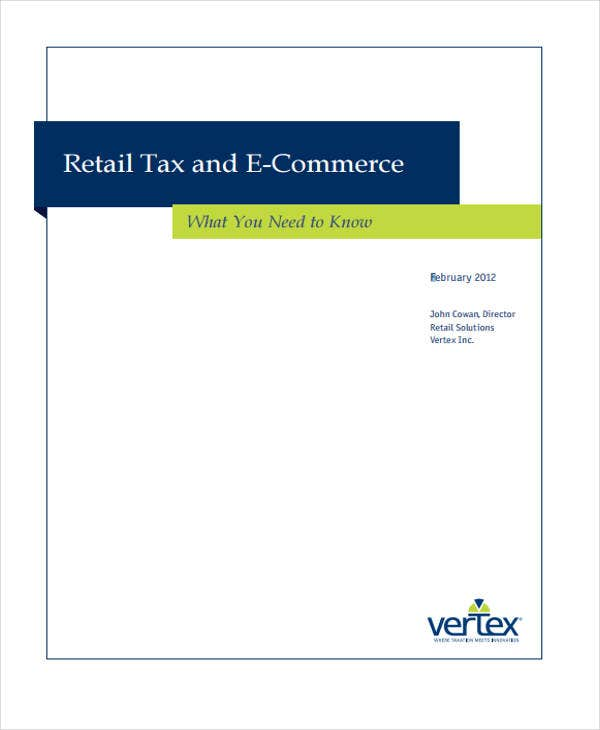 retail tax ecommerce white paper