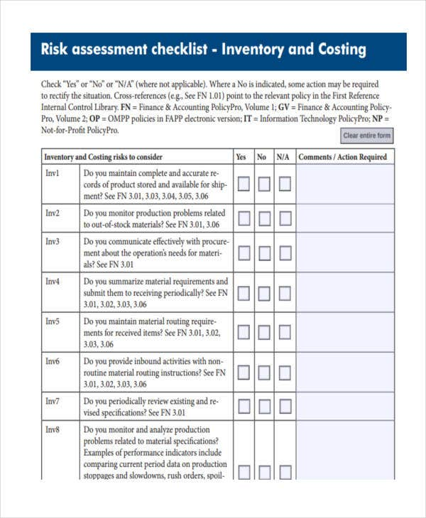 Assessment Checklist Templates   Free Word Pdf Format Download