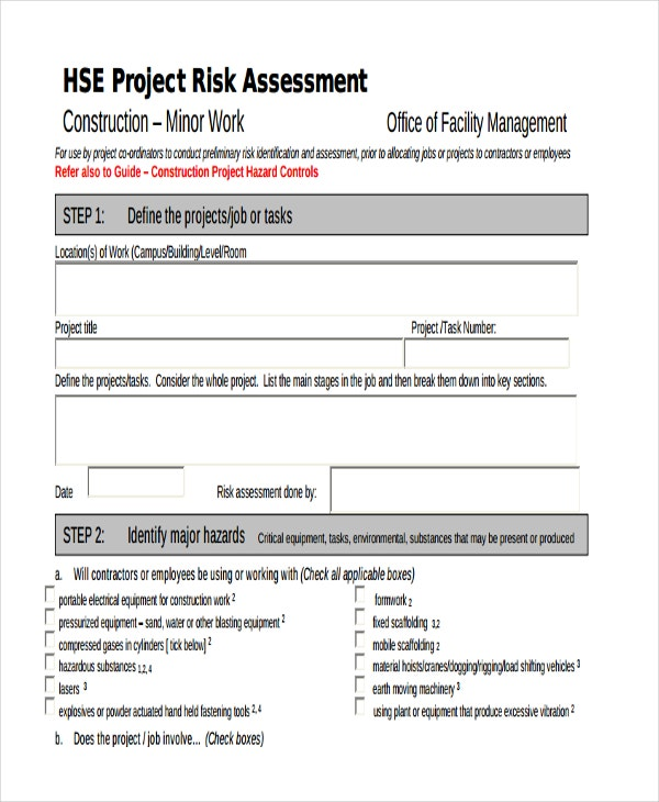 risk assessment for construction project1