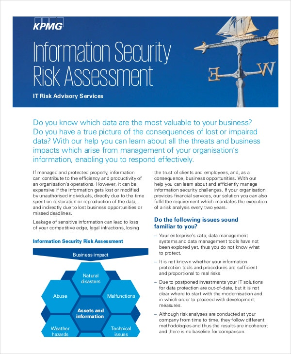 10+ Security Risk Assessment Templates - Free Samples, Examples