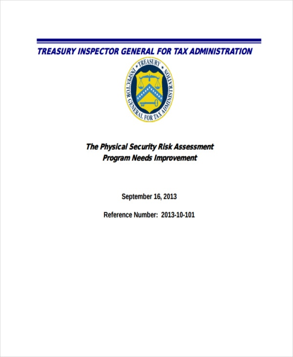 37 risk assessment templates free premium templates for Physical security survey template