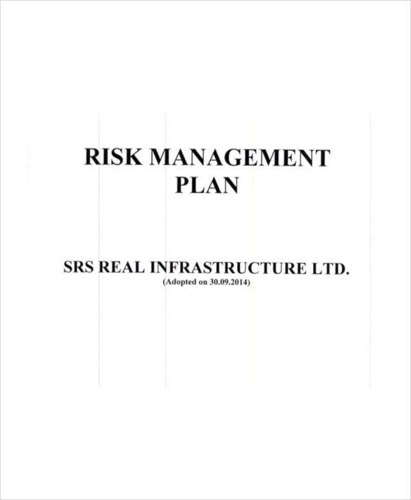 risk management plan for company
