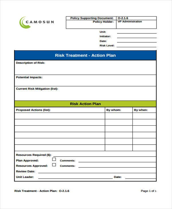 risk treatment action plan1