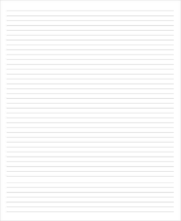 ruled blank lined paper