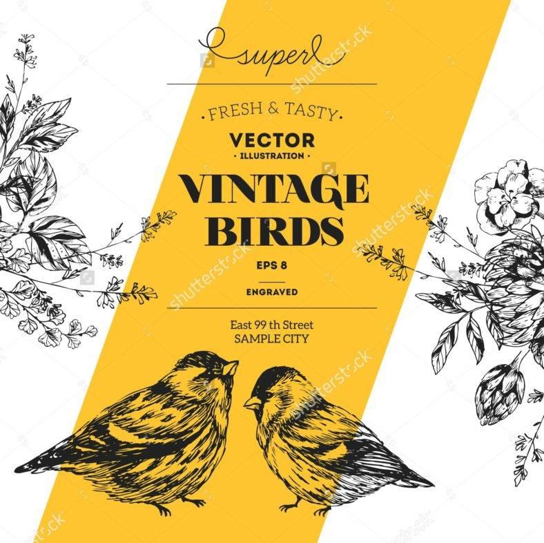 sh-stock-vector-vintage-bird-design-template-vector-illustration-307551830