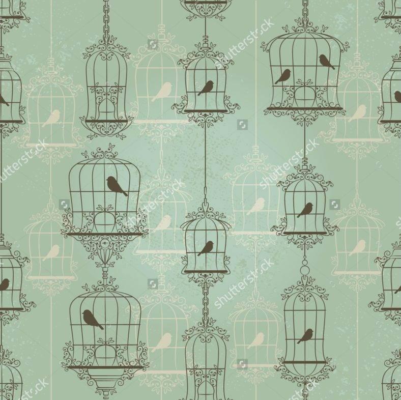 Vintage Bird Cage Pattern