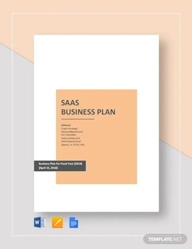 saas business plan template