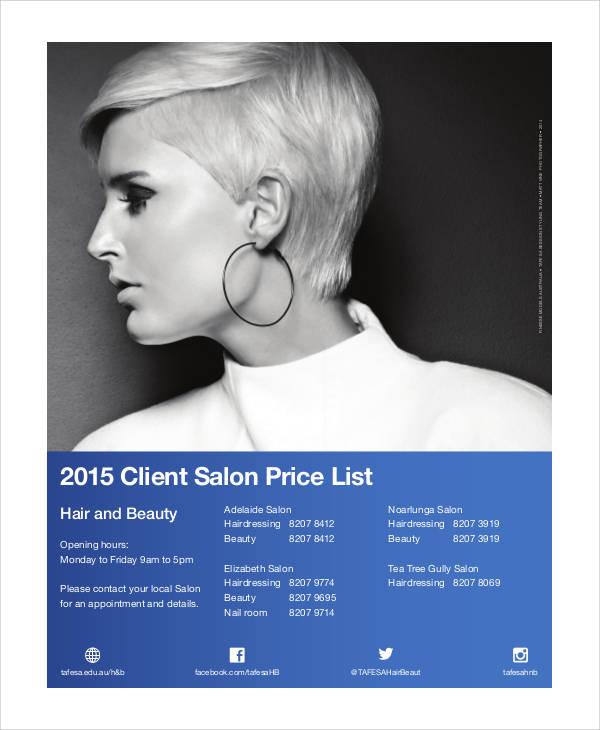 salon client list