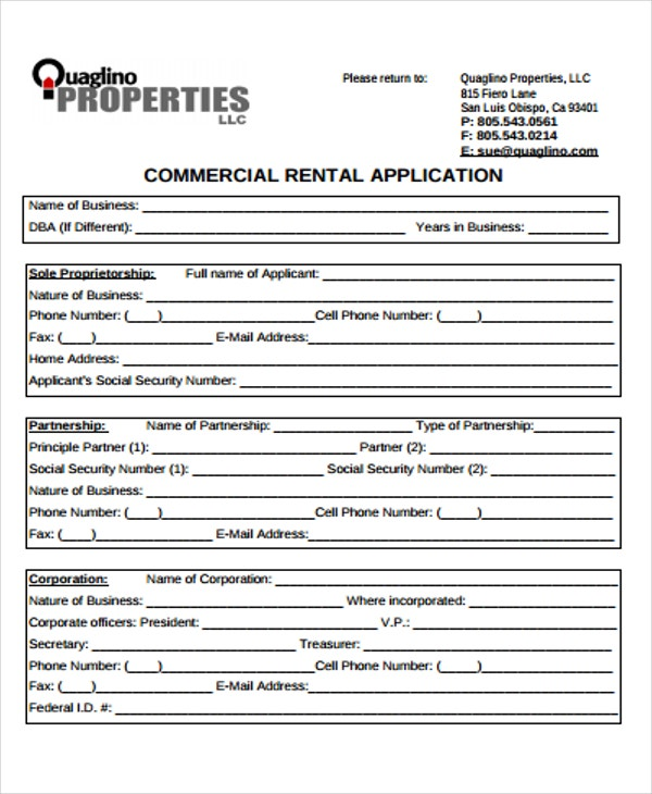 Rental Application Templates  Free  Premium Templates