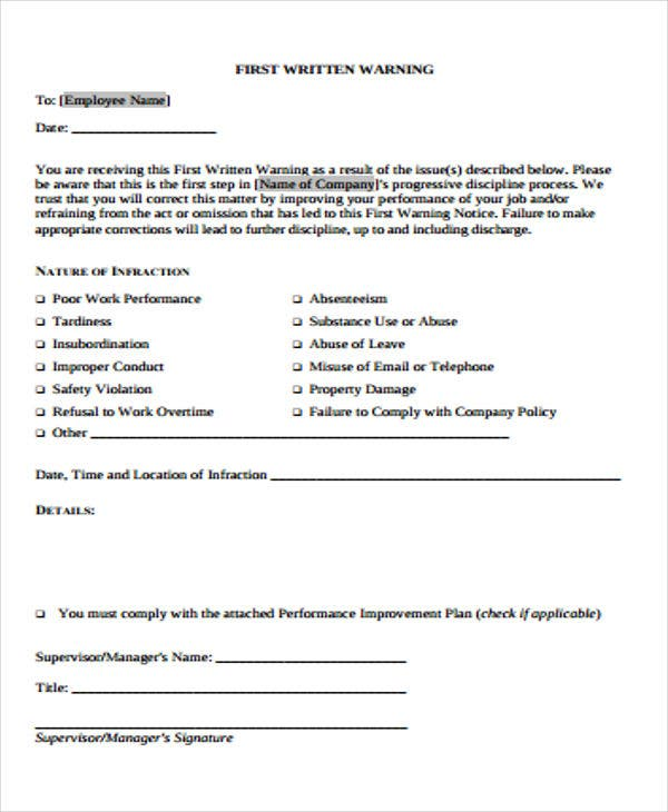 First Warning Letter Templates  7 Free Samples, Examples. Grant Template. Lower Oxford Mini Storage Template. Uk Balance Sheet Template. Skills To Highlight On A Resumes Template. Stanley Steemer Corporate Office Template. Owl Pumpkin Carving Templates. 20 Critical Controls Gap Analysis Spreadsheet. Web Design Quote Template