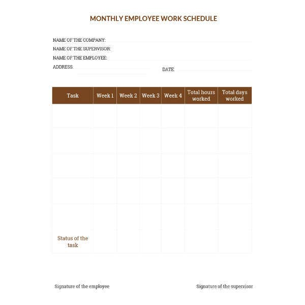 sample-monthly-work-schedule-template