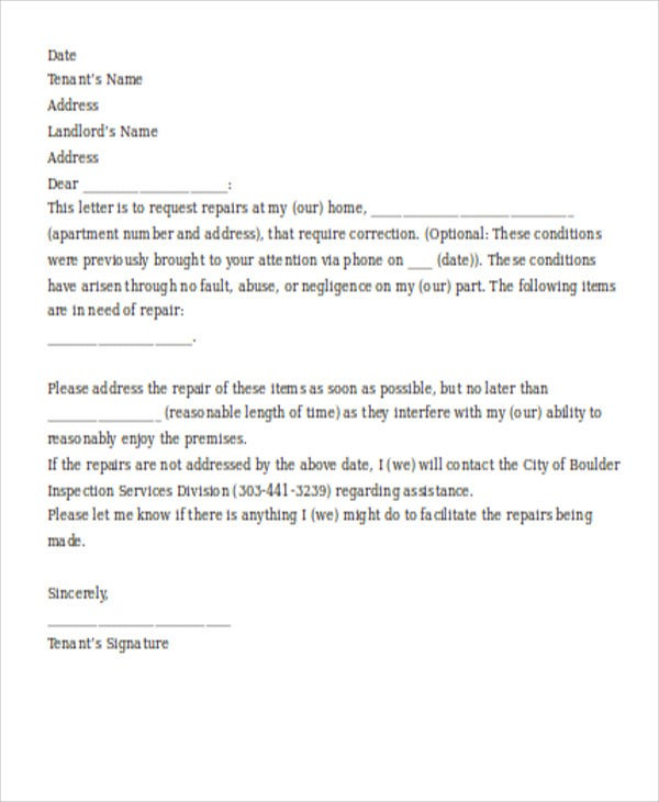 sample service request letter1