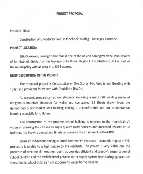 Project Proposal In Pdf  Free  Premium Templates